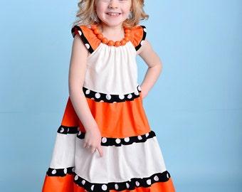 Girls Finding Nemo Dress- Nemo Dress-Finding Dory Dress- Little Girls Nemo Dress- Nemo Costume- Girls Nemo Dress- Girls Nemo Costume-Nemo