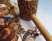 Rustic Wooden Tobacco Pipe Natural Wood Pipe Long Pipe Primitive Pipe Smoking Pipe Wood burned Pipe