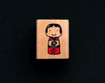 Kokeshi Rubber Stamp - Doll Rubber Stamp - Japanese Rubber Stamp - Traditional Japanese