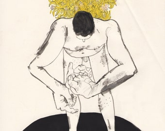 Flower Burden (original drawing, 2016)