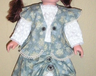 Snowflake print Steampunk outfit---doll clothes---free shipping