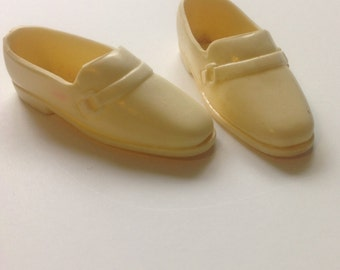 Vintage Ken Off White Shoes Loafers