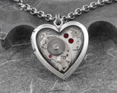Steampunk Heart Locket Necklace - My Clockwork Heart by COGnitive Creations