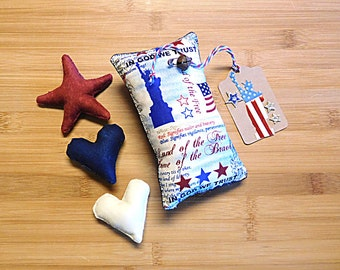 Independence Day Statue of Liberty Pillow  Red White and Blue Bowl Fillers Holiday Decorations