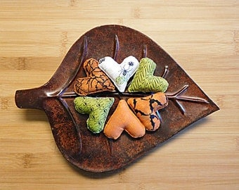 Halloween Fabric Hearts Ornaments Bowl Fillers Holiday Decorations