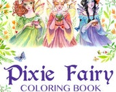 Pixie Fairy Coloring Book by Sara Burrier