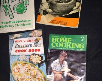 Vintage Cook Book Pamphlet Lot