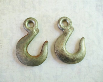 Pair of  Vintage Barn Pulley Hooks
