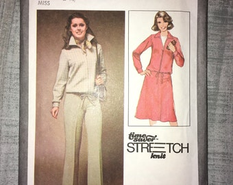 Uncut Vintage 1978 Simplicity Pattern No.  8451 - Misses' Unlined Jacket, Skirt & Pants - size 10-12-14