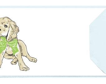 Cocker Spaniel: 5 Letterpressed Notecards