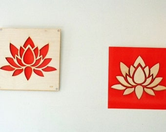 2 Plywood/Recycled Aluminum Lotus