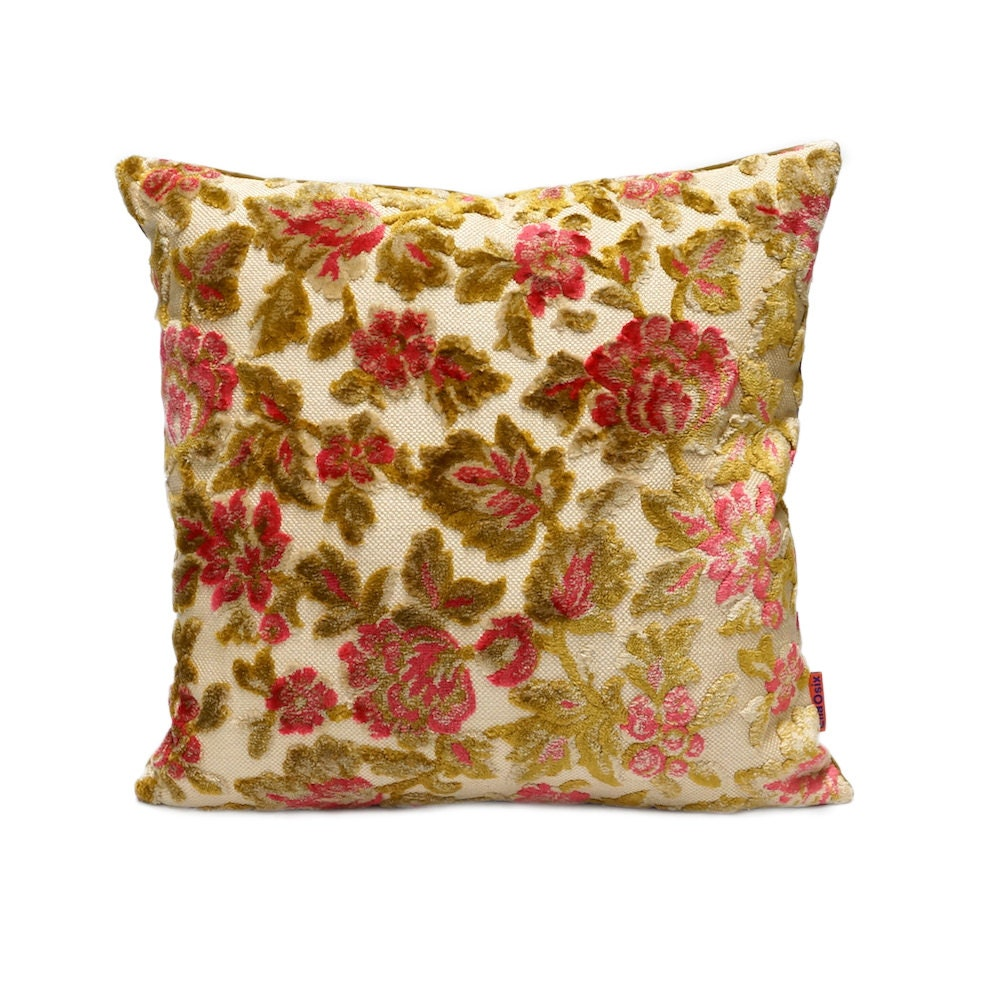 Shabby Chic Couch Pillows : Velvet Shabby Chic Cushion Cover Throw Pillow Chenille