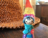 Loobylu Wintery Elf OOAK Ornament No.12