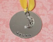 Hand Stamped Dream Ornament - ON SALE
