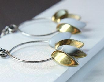 Long Glass Earrings Oxidized Silver  Handmade Jewelry  Accessories  Jewellery
