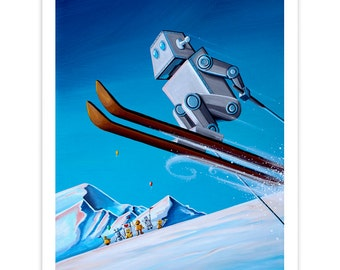 Limited Edition - The Downhill Race - Signed 8x10 Semi Gloss Robot Print (1/10)