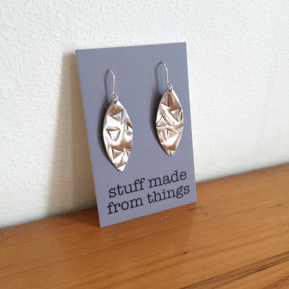 Modern Geometric Aluminium Earrings With Triangle Design - Geometric - Modern - Simple - Gypsy - Festival - Gift