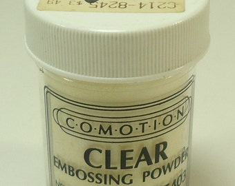Comotion Embossing Powder Clear 5403  .5 Ounce