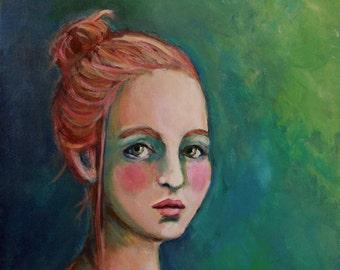 Mia - Original Portrait Painting