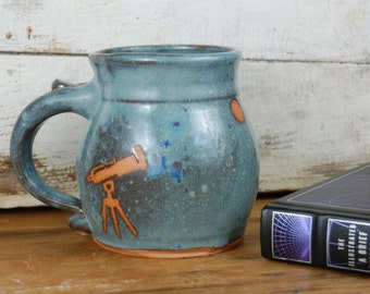 Astronomy Mug in Slate Blue- Made to Order