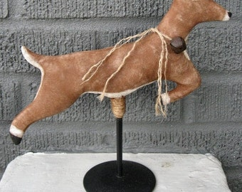 Leaping Deer EPATTERN...primitive country christmas cloth doll ornament digital download sewing pattern...PDF...1.99