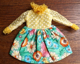 touched by the hand of god vintage dress for blythe dolls