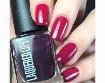Black Cherry// Thermal Handmade Nail Polish// Cruelty Free