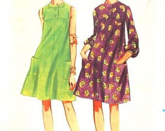 Sweet 1960's Tent Dress Bust 34 Butterick 4239
