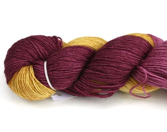 Maize--hand dyed sock yarn, BFL and nylon, (464yds/100gm)