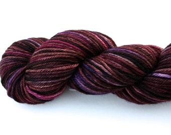 Sugar Plum--hand dyed worsted weight, merino superwash (218yds/100gm)