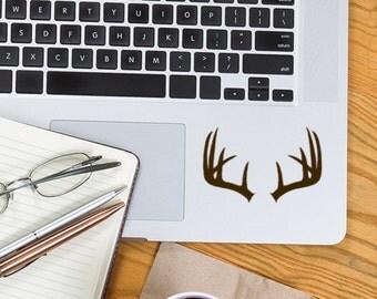 Deer Antler Decal, Deer Sticker, Car window Stickers, Laptop Decal, Tile decals, glass block Stickers, vinyl decals, hunting wedding decor