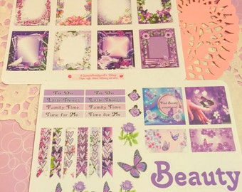 Butterfly Beauty planner stickers~