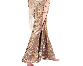 Pants, Pantaloons, YOUR SIZE, Bloomers, Stretchy, Copper, Gold, Sivler, Nouveau, Dance, Tribal, Bellydance, Dark Fusion Boutique