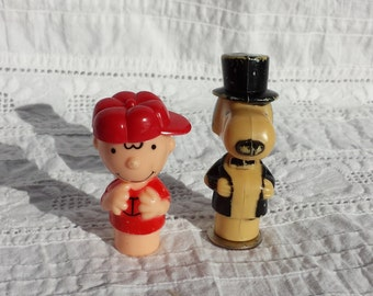 Charlie Brown and Snoopy Plastic Figures 1950's