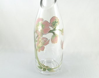 Recycled Glass Bottle Vase Floral Design