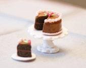 1/6th Scale Miniature Choclate Cake Blythe Momoko Pullip Barbie Fashion Royalty Doll House
