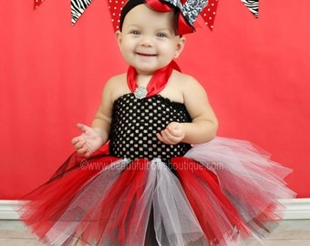 Holiday Red Black Baby Tutu DressHoliday Damask Toddler TutuTutu Dress