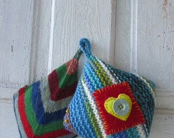 Pin Cushion Recycled Upcycled gift for seamstress  FREE SHIPPING in US