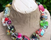 CHERISE resin statement necklace