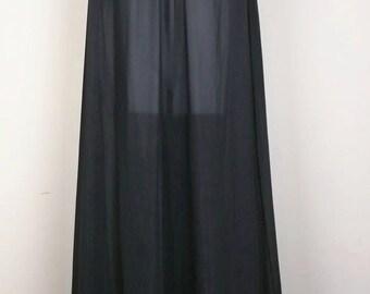 Vintage Lorraine Black Long Nightgown S