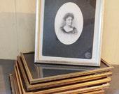 vintage picture frames - gold silver metal frames - 8x10 - set of 7