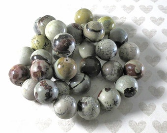 Picture Jasper Rounds - 16mm Round - 11 beads per strand