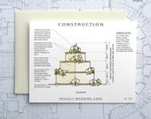 Project Wedding Cake - Blank Architecture Construction Card