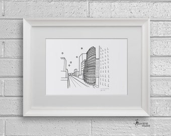 Sketch Series - Lipstick Building, New York City - Art Print (5 x 7)
