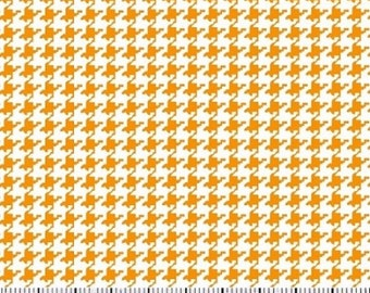 Gold Houndstooth Mini Print Fabric By The Yard - Cotton