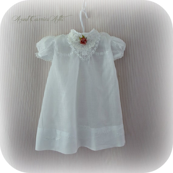 white baby dress for nursery decor baby shower decoration display
