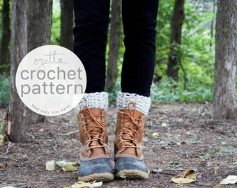 Crochet Pattern / Boot Warmers, Leg Warmers, Boot Cuffs / THE TUNDRAS