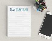 Clearance | Blah Blah Blah Notepad | To Do List | 50 Sheets