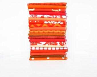 10 Orange Cloth Napkins - Reusable Paper Towels - Unpaper Napkins - Eco Friendly - Unpaper Towels - Paperless - Flannel Napkins - 10 x 12 cb