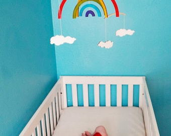 You Are My Sunshine Baby Mobile - Nursery Mobile - Kids Mobile - Rainbow Mobile - Sun Mobile